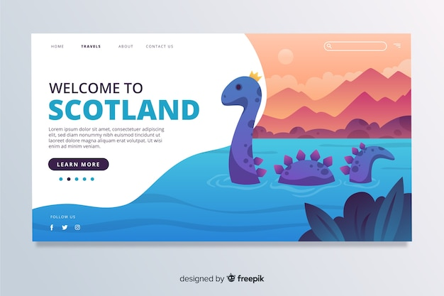 Welcome to scotland landing page