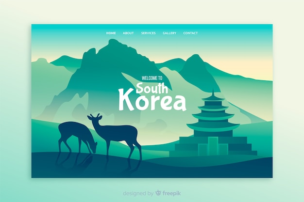 Welcome to south korea landing page