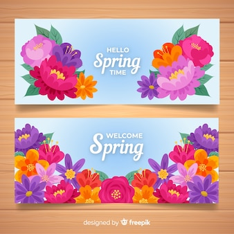 Welcome spring banners