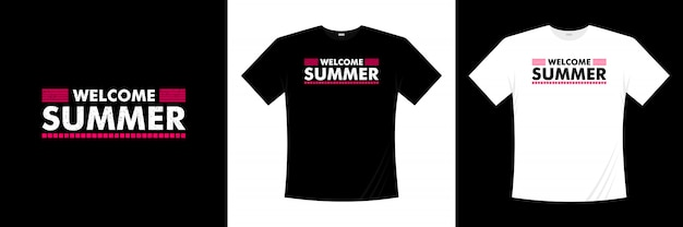 Welcome summer typography t-shirt design