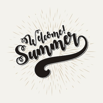 Welcome  summer vector illustration