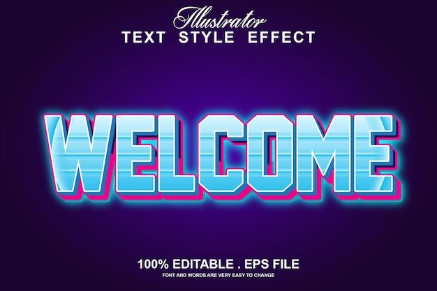 Приветственный текстовый эффект редактируемый