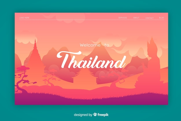 Welcome to thailand landing page