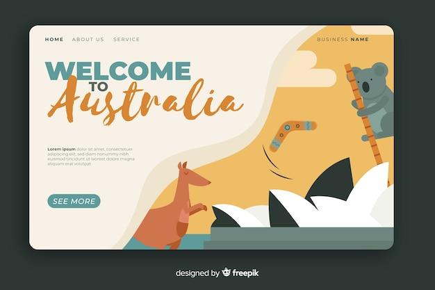 호주 방문 페이지 템플릿에 오신 것을 환영합니다
