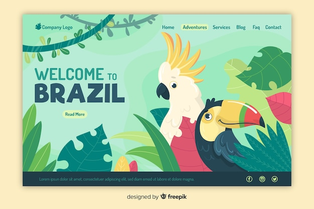 Добро пожаловать на целевую страницу бразилии