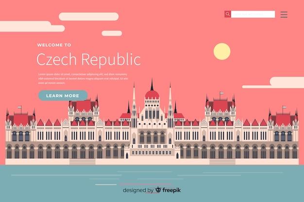 Добро пожаловать в шаблон целевой страницы чешской республики