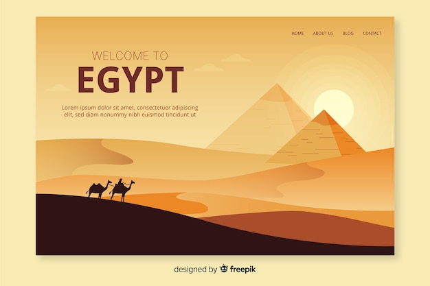 이집트 방문 페이지 템플릿에 오신 것을 환영합니다