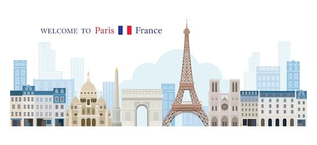 프랑스 인사말 개념에 오신 것을 환영합니다.