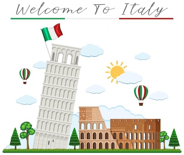 Добро пожаловать в италию и ориентир