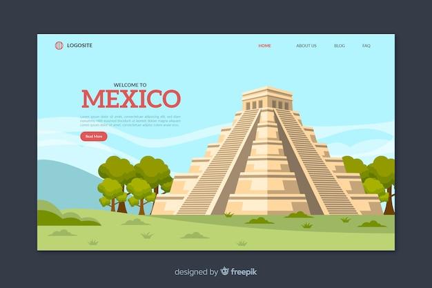 멕시코 방문 페이지 템플릿에 오신 것을 환영합니다