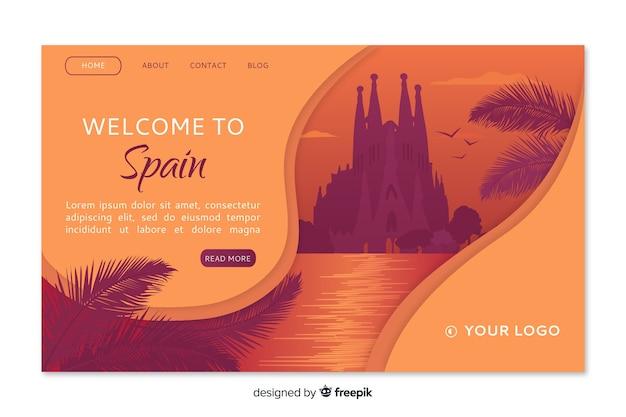 Добро пожаловать в испанию шаблон целевой страницы