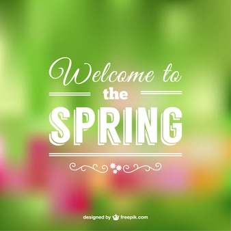 Welcome to the spring beautiful background