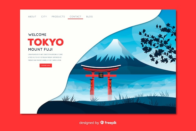 Welcome to tokyo landing page