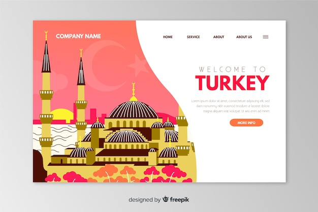 Welcome to turkey landing page template