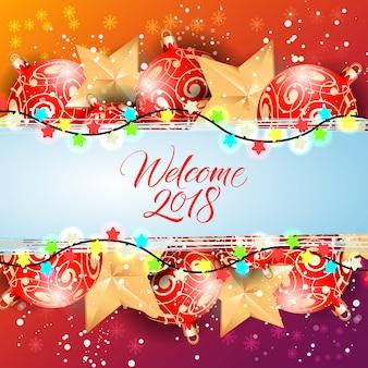 Welcome twenty eighteen lettering