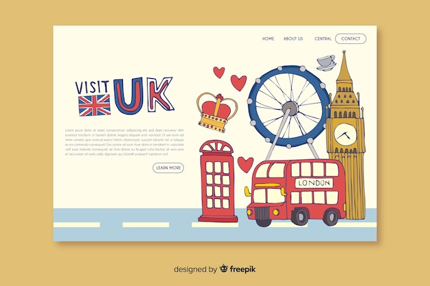 Welcome to the uk landing page
