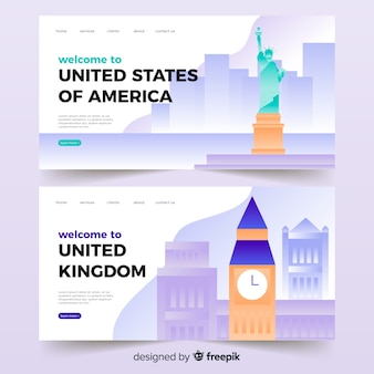 Welcome to the us / uk  landing page
