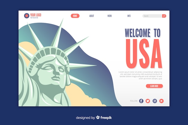 Welcome to usa landing page
