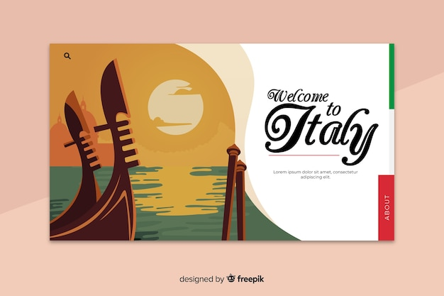 Welcome to venice landing page template
