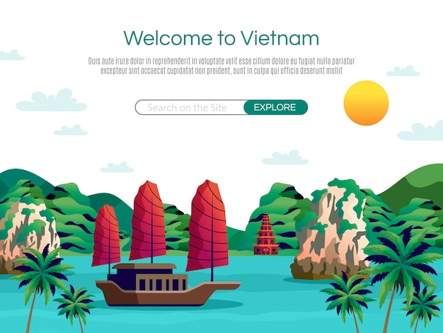 Welcome to vietnam landing page and web template