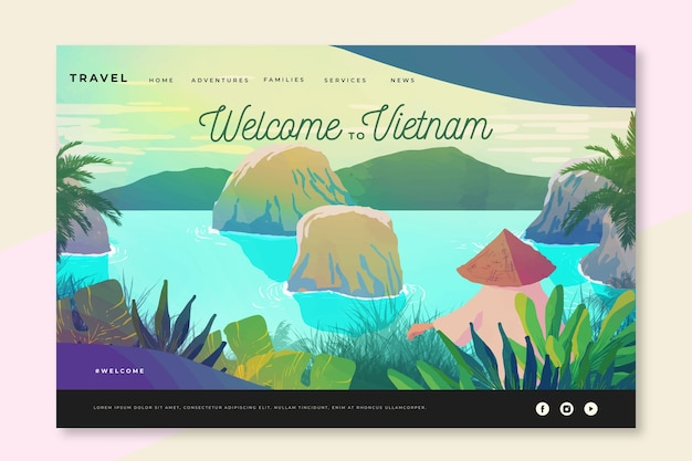 Welcome to vietnam landing page