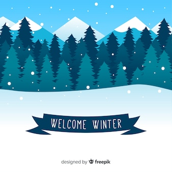 Welcome winter background