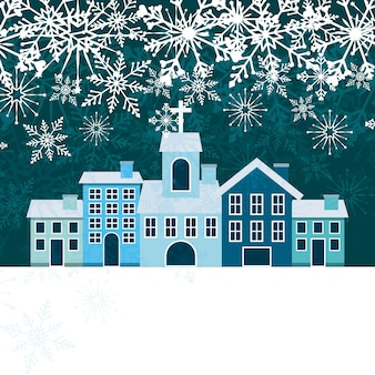 Welcome winter design, vector illustration eps10 graphic