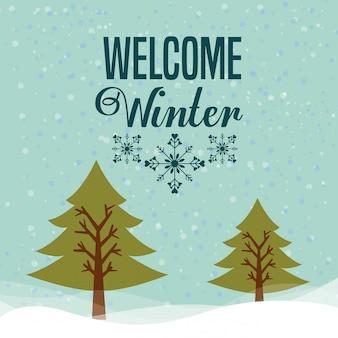 Добро пожаловать зимний дизайн