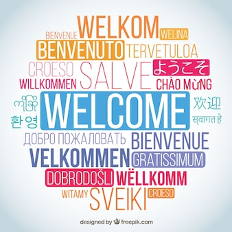 Welcome word composition in different languages