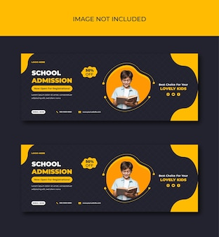 Welcome your kids back to school get admission promotion social media post template