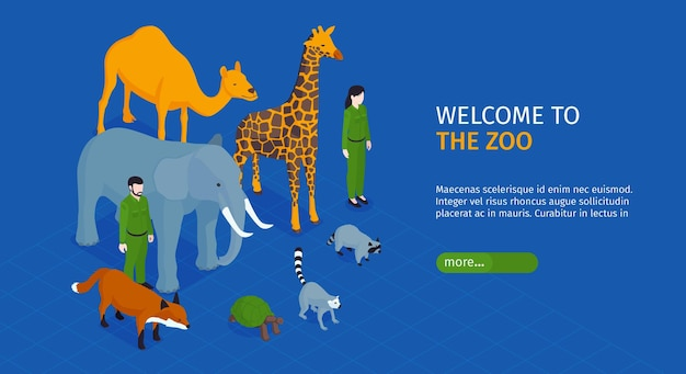Welcome to the zoo landing page template