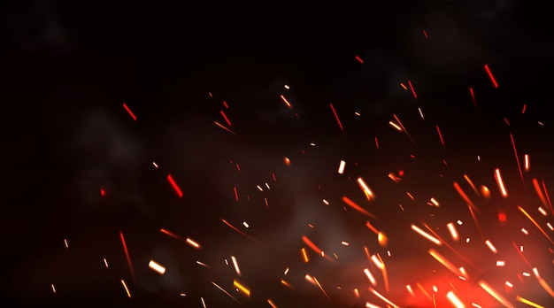 溶接火花または金属切削ブレード作業の背景