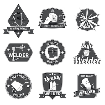 Welder labels set