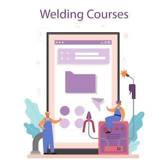 Welder and welding online service or platform
