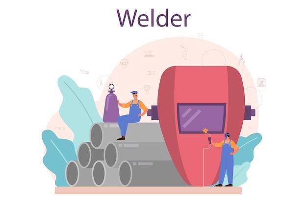 Welder and welding service concept.