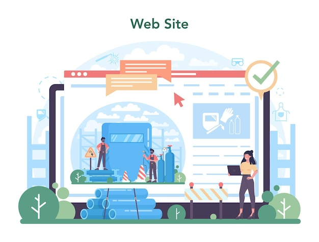 Welder and welding service online service or platform
