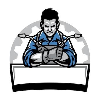 Welder with welding tools badge
