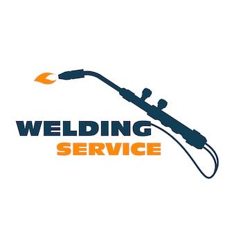 Welding - burner cutting torch, weld service simple logo