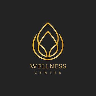 Wellness center design logo vector