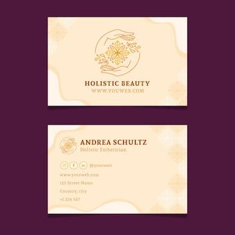 Wellness flat horizontal business cards