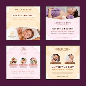Wellness flatinstagram post collectiontemplate