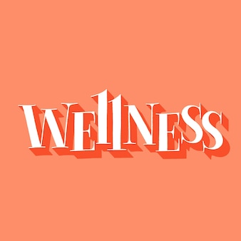 Wellness handdrawn lettering quote for spa and wellness center