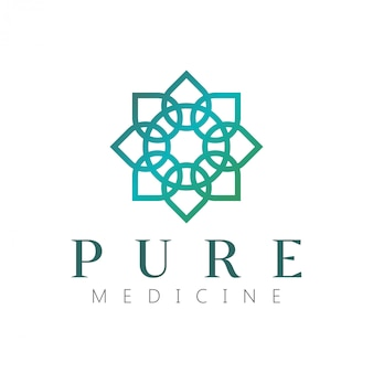 Wellness logo with a simple and clean modern design with elegant line art style
