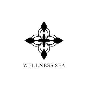 Wellness spa design logo vector