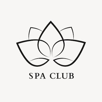 Modello di logo spa benessere, vettore di design professionale della natura del fiore