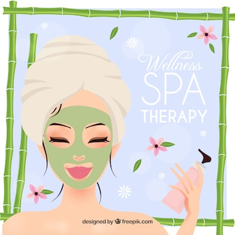 Wellness spa therapy background