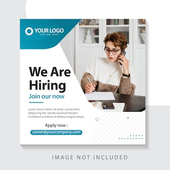 Were hiring  template join team our now illustration