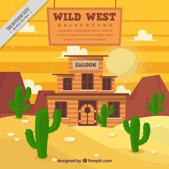 West saloon background