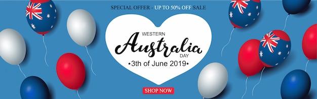 Western australia day banner