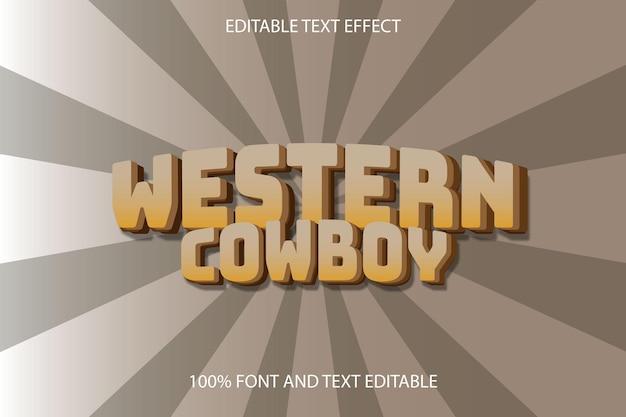 Western cowboy editable text effect emboss retro style